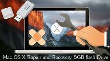 MAC OS X SNOW LEOPARD 10.6 BOOTABLE 8GB USB INSTALL, UPGRADE OR RECOVER NEW