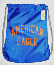 AMERICAN EAGLE ROYAL BLUE DRAWSTRING BACKPACK BAG