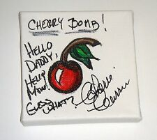 The Runaways Cherie Currie Signed Autographed 4.5x4.5 HAND DRAWN ART WORK What?