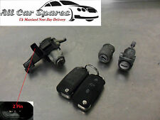 VW/Volkswagen Polo Mk4 9N - Ignition, Driver Door, Boot Lock & Key (x2) Set