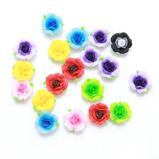 30pcs Mixed Random Colors Flowers FIMO Polymer Clay Spacer Bead Jewelry Crafts D