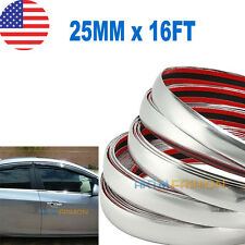 25MM X 16FT  CHROME SILVER MOULDING TRIM CAR BUMPER PROTECTOR STRIP