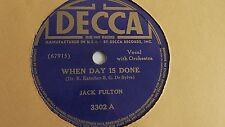 Jack Fulton – 78rpm single 10-inch – Decca #3302