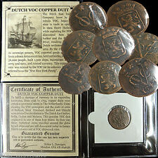 (1) 1726-1794 DUTCH VOC COPPER DUIT SHIPWRECK Coin East India Co. New York Penny