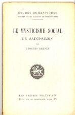 LE MYSTICISME SOCIAL DE SAINT-SIMON. GEORGES BRUNET