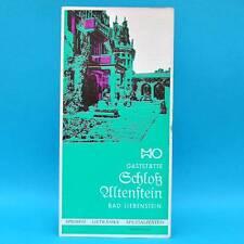Gaststätte Schloß Altenstein Bad Liebenstein 1980   Speisenkarte DDR Weinkarte B