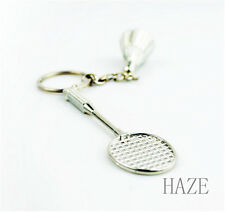 Badminton Rackets Alloy Keyring Classic 3D Pendant KeyChain Bag Creative Gift