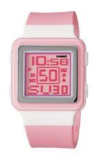 Casio Women's LDF20-4AV Digital Pink Resin Strap Watch