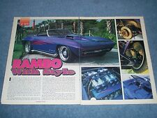 "1965 Custom Corvette Roadster Vintage Article ""Rambo with Style"""