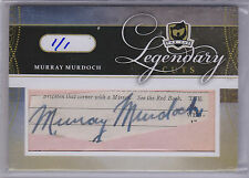 11-12 Upper Deck The Cup Legendary Cuts Auto Murray Murdoch #LC-MM 1/1 Rangers