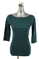 womens stripe FRENCH CONNECTION FCUK knit top shirt casual modern stretch soft M