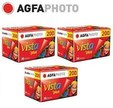3 Rolls x AgfaPhoto AGFA VISTA Plus 200 ISO 36exp 135 35mm Color Film EXP.2018