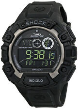 Timex Men's Expedition Digital Chrono World Time 100m Black Resin Watch T49970