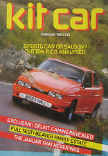 Kit Car magazine 02/1985 featuring J2X2, Beaver, Dutton Rico, Calvy Mitchel