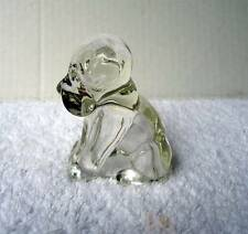 1950's GLASS SITTING DOG CANDY CONTAINER #fj7