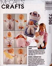 McCalls Crafts 7398 Baby Doll Clothes Pattern Rompers Doll Carrier Diaper Cover
