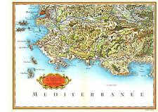 Reproduction Carte de Cassini Marseille et la basse Provence Bouches du Rhône 13