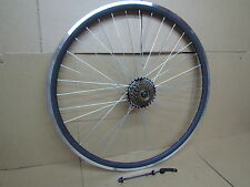 QR 700c Road Racing Bike Bicycle REAR Wheel 7 Speed Freewheel Axle Quick Release