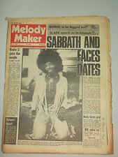MELODY MAKER 1973 JULY 14 DAVID BOWIE FACES BLACK SABBATH SLADE SLY STONE
