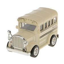 1:36 Die Cast Model School Bus Pull Back Car Educational Toy Kids Gift-Khaki