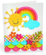 Sizzix Thinlits Fowers, Rainbow & Sun 4pk set #660402 Retail $12.99 Happy FUN!!