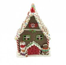 Gisela Graham Light Up Gingerbread House - Festive Pre Lit Christmas Decoration