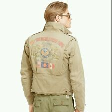 Polo Ralph Lauren Mens M41 Canvas Field Bomber Jacket L Very Rare BNWT RRP £399