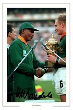 NELSON MANDELA AUTOGRAPH SIGNED PHOTO PRINT SOUTH AFRICA WORLD CUP