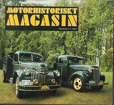 Motorhistoriskt Magasin Swedish Car Magazine #4 1994 031617nonDBE