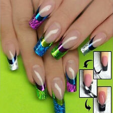 multi Color Painted Manicure Tips Decal Decor French Nail Art Transfer Stickers