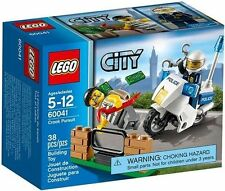 60041 CROOK PURSUIT legos  LEGO city town SEALED police NEW motorcycle