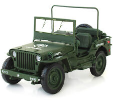 Model Car 1:18 Collections WWII Military Jeep Willis Tactics Alloy Diecast Gifts