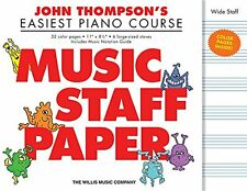 "JOHN THOMPSON'S EASIEST PIANO COURSE ""MUSIC STAFF PAPER"" BRAND NEW ON SALE!!"