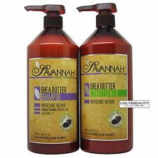 Savannah Shea Butter Shampoo & Conditioner 1000 ml / 33.8 fl. oz. with Free Gift