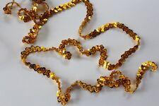 Dance Costume Elastic Sequin Trim - 1 Row Stretch  Gold 1 Metre