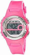 Timex Women's Marathon 50m Digital Display Night Light Pink Resin Watch T5K771