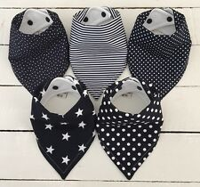 Bandana Dribble Bib Bundle x 5 ~ Classic Navy ~ Bilibib ~ Lovely!!