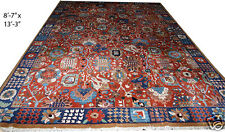 A 10' x 13' Rare German Tetex Rug With Persian Zigler Mahal Pattern