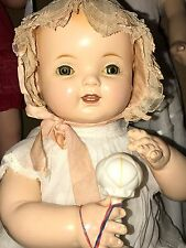 "Large Antique Composition BABY HENDREN Doll, Stunning!  Must See, 23"" AO"