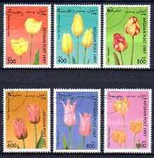 Flore - Fleurs Afghanistan (2) série complète de 6 timbres oblitérés