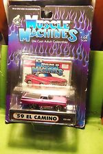 Muscle Machines 59 Pink El Camino Die Cast Car New Never Opened
