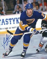 Signed  8x10 TODD EWEN St Louis Blues Photo - COA