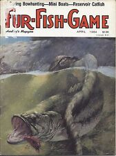 Fur-Fish-Game magazine April 1984 cover by George Luther Schelling