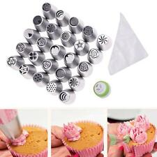 Russian Tulip Icing Piping Nozzle Stainless Tips Flower Cake Decor Tool 25+20+1