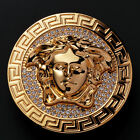 Medusa Head Cowboy Belt Buckle  Gold  Plated 1-1/2