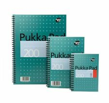 3X Pukka Pad A4 Jotta Spiral Bound Notebook 200Pge 80gsm White Ruled Pads