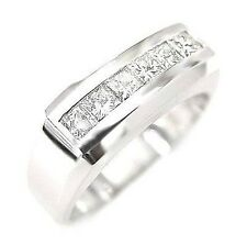 2.10 Ct. Men's Diamond Ring Channel Set 12mm Wide