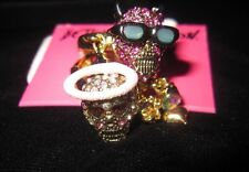 "Betsey Johnson ""Angel Devil"" Angel and Devil Skull Ring, Size 7.5"