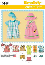 SEWING PATTERN! MAKE DRESS~ROMPER~HAT! BABY BOY~GIRL! PREEMIE~24 POUNDS! CLOTHES
