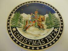 THE BAVARIAN CHRISTMAS PLATE LIMITED EDITION 1972 WEST GERMANY SCHMID DESIGN 10""